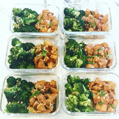 Thai Peanut Chicken & Garlic Broccoli